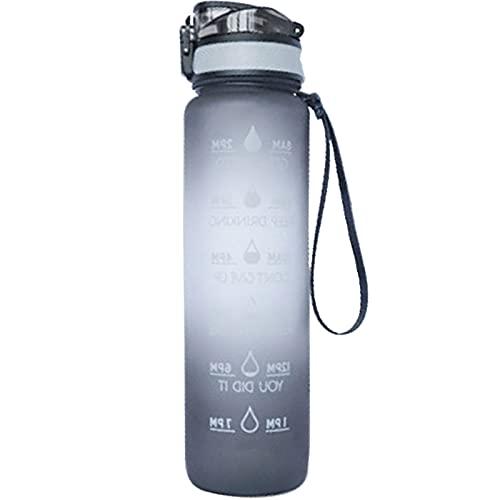 LIBAITIAN con Marcador De Tiempo Tritan PláStico Botella De Agua Sin BPA Reutilizable para Camping, Deporte, Gimnasio Taylor Botella De Agua,32 Oz Deportiva Botella De Agua