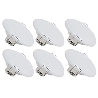 Dream Lighting LED 12volt 3.5inch Recessed Mount Ceiling Light with Springs, RV Interior Down Light for Trailer Boat Cabin—Bright Warm White 3500K, 250lm, Pack of 6