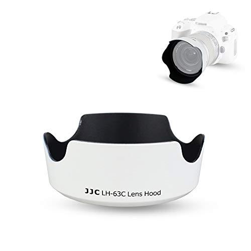 18-55mm Lens Hood Shade for Canon EF-S 18-55mm f/3.5-5.6 is STM & EF-S 18-55mm f/4-5.6 is STM Lens Replaces Canon EW-63C Hood for T8i T7i T6i T5i SL3 SL2 SL1 90D 80D 77D 70D Reversible Design -White -  JJC, LH-63C WHITE