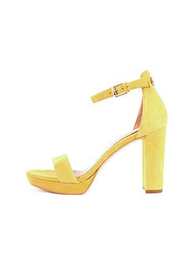Guess FL5ORE SUE03 Sandalen mit Absatz Frauen Gelb 39