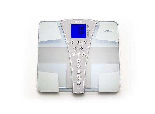 Tanita BC-587 glazen lichaamsanalyse weegschaal Jumbo platform, display en 200 kg capaciteit