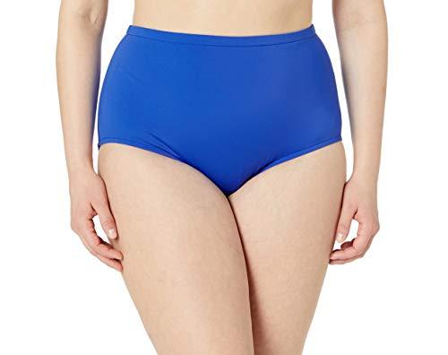 Maxine Of Hollywood Women's Plus-Size High Waist Hipster Bikini Swimsuit Bottom, Cobalt, 24W