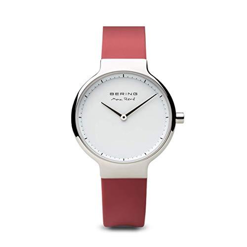 BERING Damen-Armbanduhr Analog Quarz Silikon 15531-500