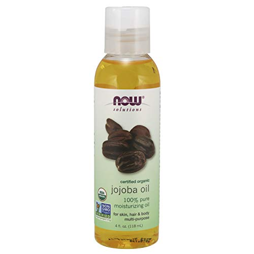Now Solutions, Organic Jojoba Oil, Moisturizing Multi-Purpose Oil for Face, Hair and Body, 4 Fl...