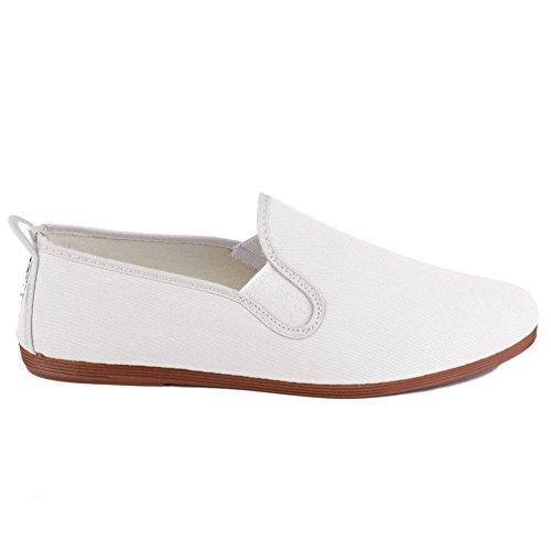 javer 55-1 - Zapatilla Kung-FU Lona Mujer Color: Blanco Talla: 39