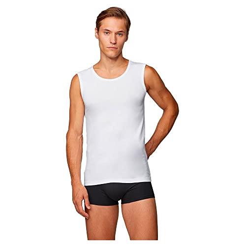 BOSS SL-Shirt RN 10194356 01 Top de Deporte, Blanco (White 100), Large (Pack de 2) para Hombre