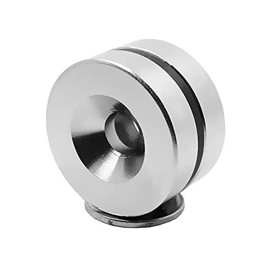 JJYGXYG Imanes para nevera de 1 ~ 10 unidades, 30 x 10 – 6 potentes imanes de neodimio de 30 x 10 mm, agujero de 6 mm, redondo permanente, avellanado (color: 5 unidades)
