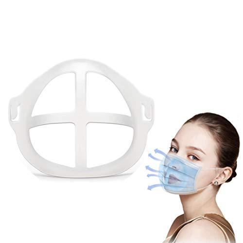 Soporte para mascarilla 3D, Soporte para crear espacio y comodidad en la mascarilla, Marco de soporte interno, Protección para pinta labios, [5 pcs]