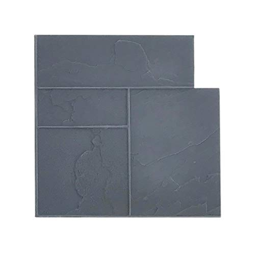 Ashler Notched Slate Concrete Stamp Single by Walttools | Decorative Tile Pattern Flexible Polyurethane Texturing Mat, Sturdy, Realistic Detail (Floppy)