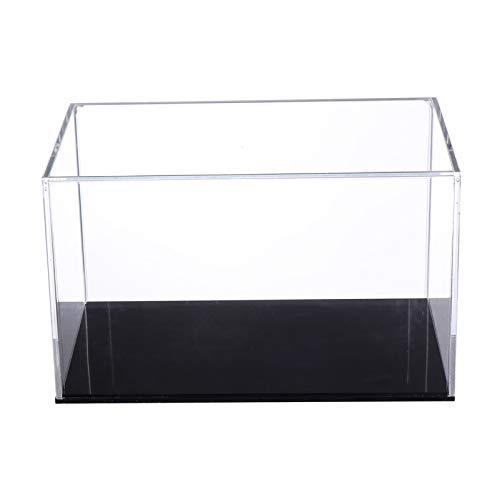 Cabilock Vitrina de Acrílico Transparente de Plástico Caja de Encimera Organizador de Cubos Vitrina de Protección de Soporte (Estilo Horizontal)