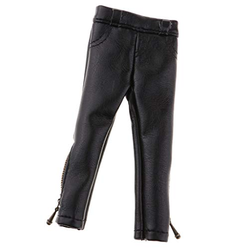 Fenteer Puppenkleidung Puppenhose Lederhose Leggings Für 1/6 Mädchen Puppe Dress Up - Schwarz