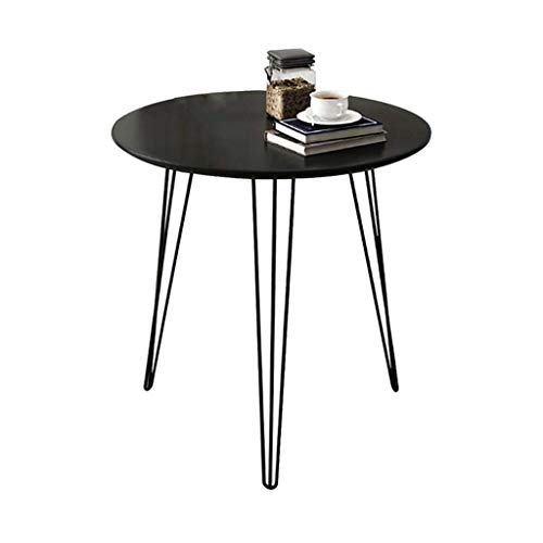 NBVCX Decoración de Muebles Mesas auxiliares Mesa Auxiliar Mesa de sofá pequeña ound Simple Ocio Hierro Forjado Living OOM Mesa de té Mesita de Noche Balcón Mesa de bocadillos (tamaño: 60 * 60 cm)