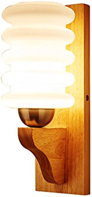SYF light Wandlampe Vollholz Glasabdeckung LED-Lichtquelle für Schlafzimmer Wohnzimmer   Bett Gang Lampe Gre  120X320mm A++