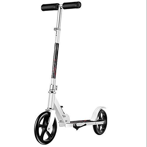 LJHBC Patinete Ajuste de Altura de 3 velocidades Plegable portátil Scooter de...