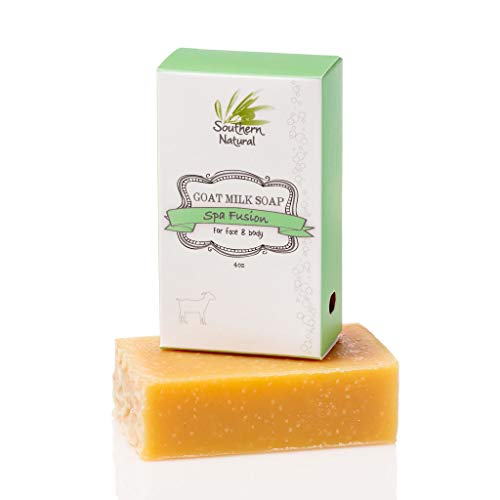 Essential Oil Blend - Handmade Goat Milk Soap Bar - For Eczema, Psoriasis & Dry Sensitive Skin. 100% Natural & Gentle For Men, Women & Children. (1 BAR Apprx 4oz)