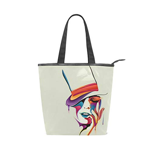 MALPLENA Malplea Damen Handtasche mit hohem Hut, Muster, sexy Frauen-Arbeitstasche
