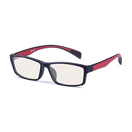 WYZQQ bril met blauw licht, uniseks, tegen vermoeidheid van de ogen, UV-stralen, digitale displays, computerbril, video-TV, modieuze bril, licht