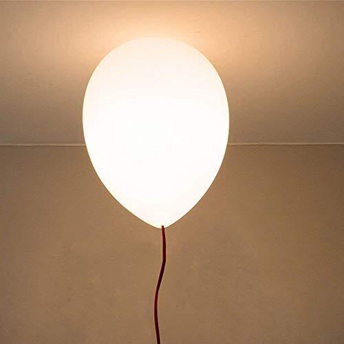 MY-LIGHTING Testa di 1 Lampadario Semplice Palloncino Moderno lampade a Sospensione a soffitto Luce per di Childern Camera da Pranzo, Camera da Letto, Soggiorno Luminosa E27 Bianco Ø 25cm Bianco