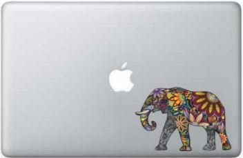 Colorful Floral Elephant 5 Inch Apple Macbook Laptop Decal product image