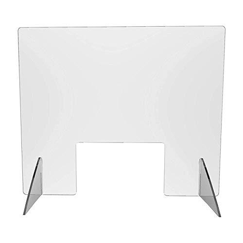 Zixin Leitblech Acrylbrett Isolation Brett for husten und durchsichtiges Plexiglasfreistehende Schild for Counts, Schreibtisch, Empfang, Kasse, Büro 40 * 40cm (Size : 40 * 40CM)