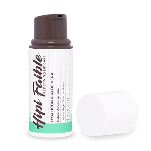 Hipi Faible - Naturkosmetik Lippenpflege im Pump-Spender - HYALURON & ALOE VERA - 100 % natürlich - 6 ml