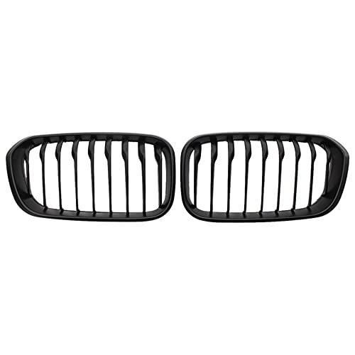VVDM Front Ridney Grill, FOR-BMW F20 F21 LCI 1-Series 120i 2015-2018 Frame Mate Matte Black Fence Grille Hood Grille Solter Slats