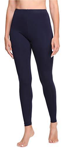 Ladeheid Damen Lange Leggings aus Baumwolle LA40-133 (Marinenblau, M)