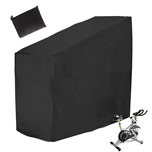 YF Exercise Bike Cover, Waterproof 210D Oxford Bike Covers with Storage Bag, Indoor and Outdoor Bicycle Cover Bike Storage for Mountain Bike, Road Bike, Spinning Bike. (Black)