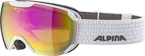 ALPINA PHEOS S Skibrille, Unisex– Erwachsene, white, one size