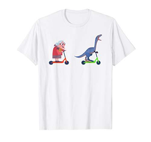 Scooter Stunt Roller Dinosaurier Skater Trick Tretroller T-Shirt