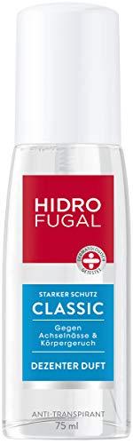 Hidrofugal Classic Zerstäuber, Anti-Transpirant mit dezentem Duft und antibakteriellem Schutz, hochwirksamer Deo Zerstäuber schützt gegen Schweiß, 6er-Pack (6 x 75 ml)
