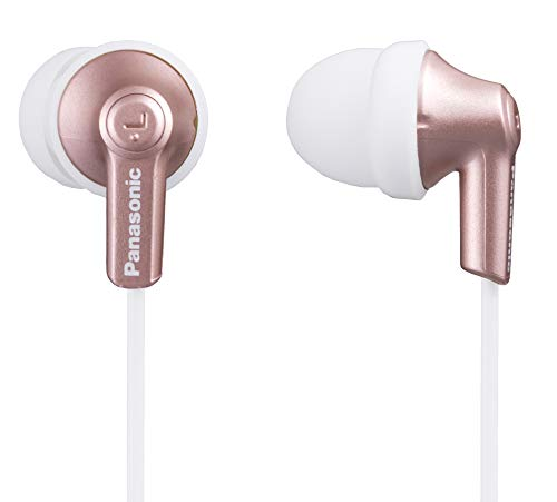 Panasonic Ergofit In-Ear Earbud Headphones Rose Gold (RP-HJE120-N)