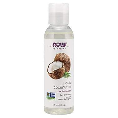 NOW Solutions Liquid Coconut Oil, 4 Fl Oz