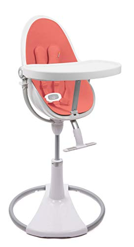 BLOOM Fresco Chaise de bébé contemporaine Cadre blanc avec kit de démarrage Rouge