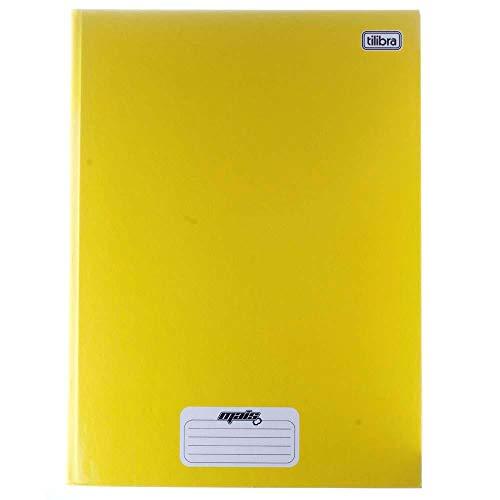 Caderno Brochura Capa Dura Universitário, Tilibra, D+, 96 Folhas, Amarelo