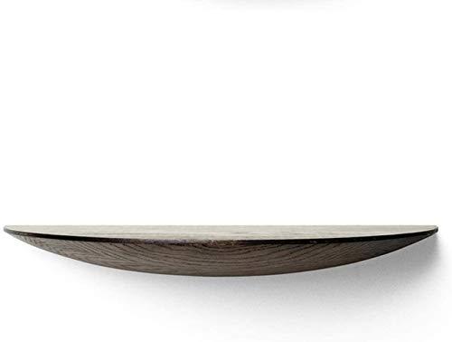 Estantería flotante de madera para pared, diseño de escalera, color nogal (42 x 21 x 5 cm)