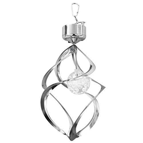 Shiwaki Encantadora Lámpara de Espiral Impermeable Decorativa Solar Al Aire Libre con Campana