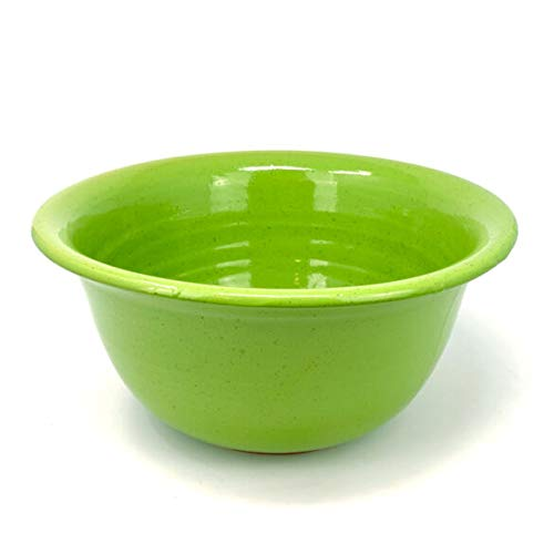 Murano Glass Italian Ceramic Pasta/Salad/Mixing Bowl, Extra Large, Apple Green, Hand Made in Florence