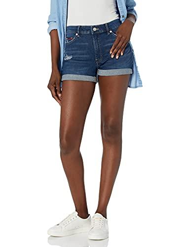 Tommy Hilfiger Women's Denim Shorts, Distressed Ink, 29