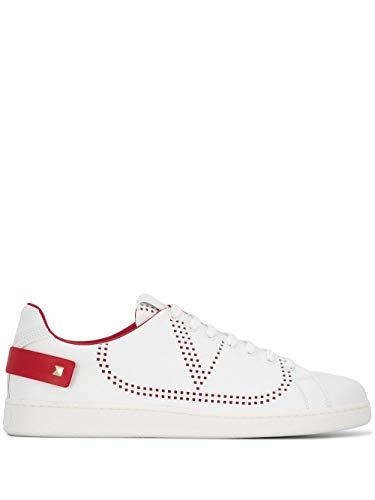 Valentino Luxury Fashion Herren TY2S0C04DYHDS5 Weiss Leder Sneakers | Jahreszeit Permanent
