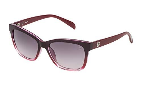 TOUS STO950-540AAL Gafas, Burdeos, 54/16/140 para Mujer