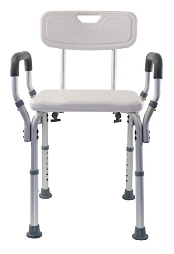 Essential Medical Supply Shower Bench with Arms and Back, With Back