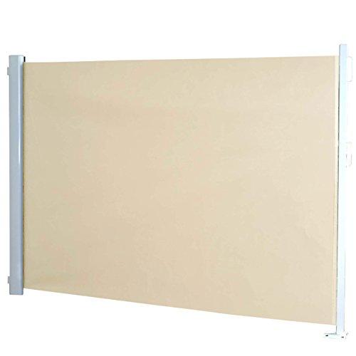 Paravento laterale T140 per esterni poliestere telaio in alluminio ~ avorio 300x160cm