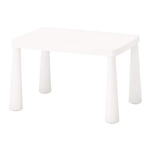 Unbekannt IKEA Mammut Kindertisch in weiß; für drinnen und draußen; (77x55cm)