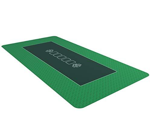 Bullets Playing Cards Profi Pokermatte grün in 160 x 80cm eigenen Pokertisch - Deluxe Pokertuch – Pokerteppich – Pokertischauflage – ideal als Geschenk