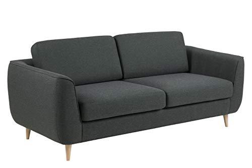 Movian Ribe - Sofá de 3 plazas, 92 x 200 x 85 cm (largo x ancho x alto), verde oscuro