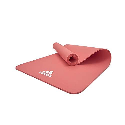 adidas, Yoga Mat-8mm-Glow Pink Unisex-Adult, Rosa incandescente