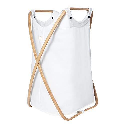 GUDEE ランドリーバスケット 折りたたみ 洗濯かご 大容量 布 取っ手付き GudeeLife Butterfly �U Laundry hamper (White)