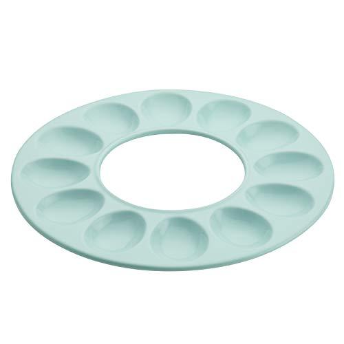 Rachael Ray Ceramics Egg Tray in Light Blue