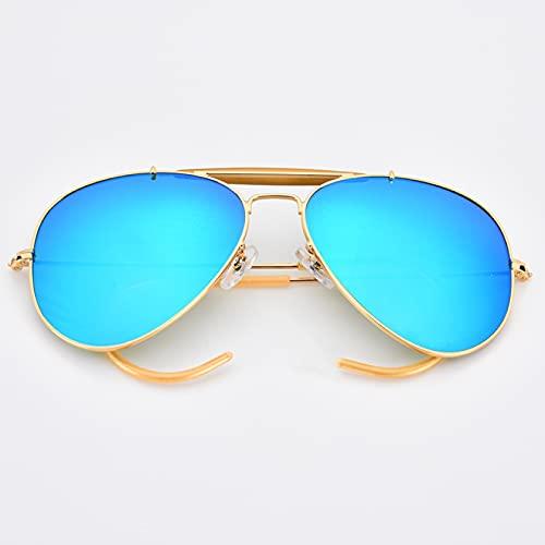 Yetier Gafas de Sol, Evitar Que se caigan Gafas de Sol Hombres Mujeres Espejo de Cristal Lente Curva piernas UV400